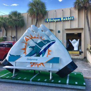 Miami Dolphins Gloves Photo Prop