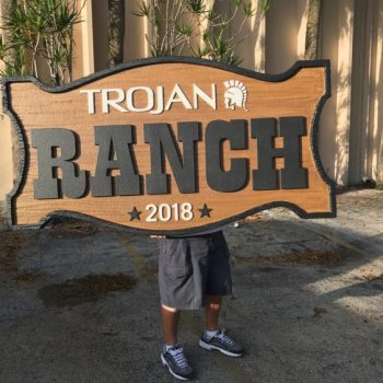 Trojan Ranch Sign