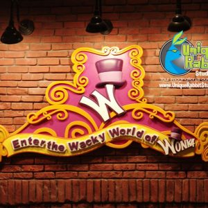 Willy Wonka Sign Prop
