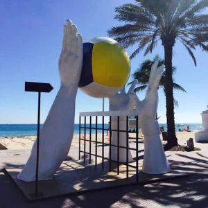 Beach Volleyball Sculpture