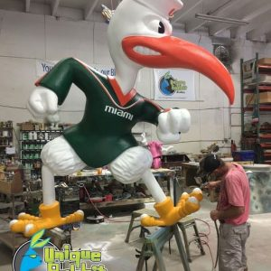 University of Miami Sebastian Mascot Prop 2