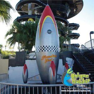 Cartoon Space Rocket Prop