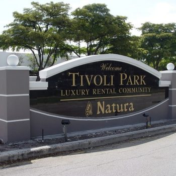 Tivoli Park Sign