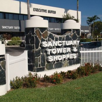 sanctuary Towers Sign